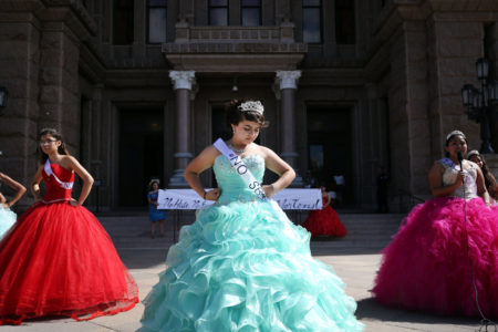 Teen Girls In Quinceañera Dresses Protest Texas Immigration Law