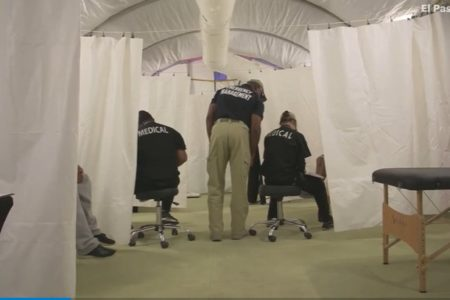 Tent Courts Set Up in Texas for Immigration Hearings Closed to Media