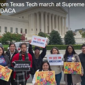 Students from Texas Tech march at Supreme Court in support of DACA