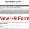 New Form I-9 Released by U.S. Citizenship and Immigration Services